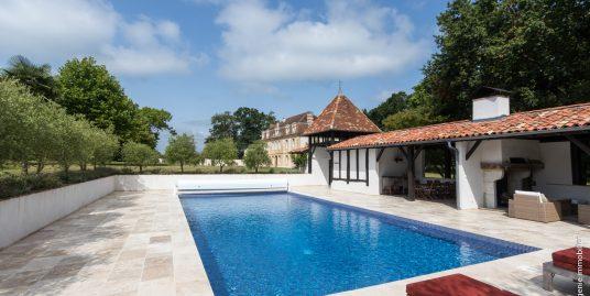Château du XVIIème entièrement restauré 19 pièces + piscine